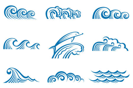 set of waves Stock Vector - 12497903