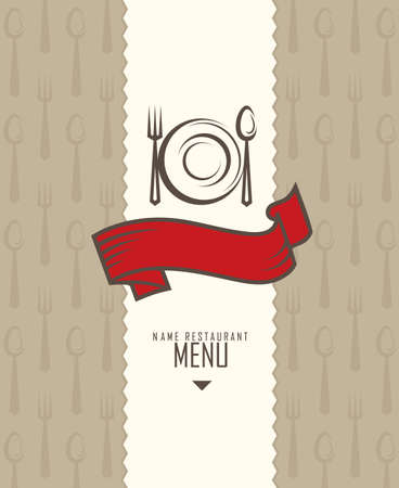 diner: restaurant menu design Illustration