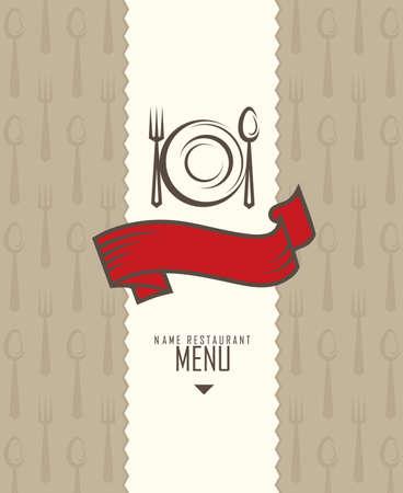 bistro: restaurant menu design Illustration
