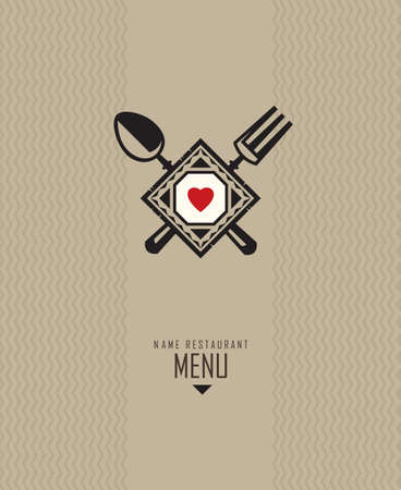 serviette: restaurant menu design Illustration