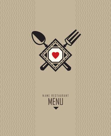 snacks: restaurant menu design Illustration