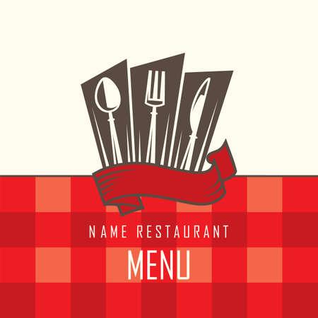 restaurante de diseño de menú
