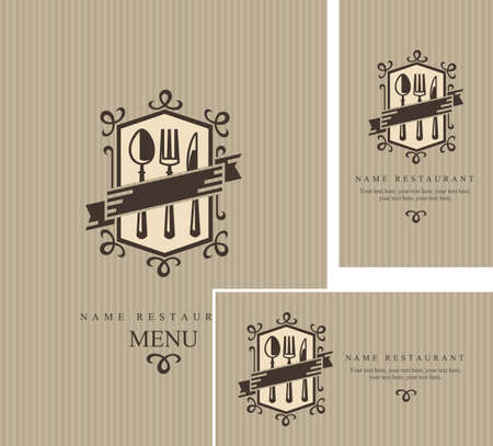 gourmet: restaurant menu design Illustration