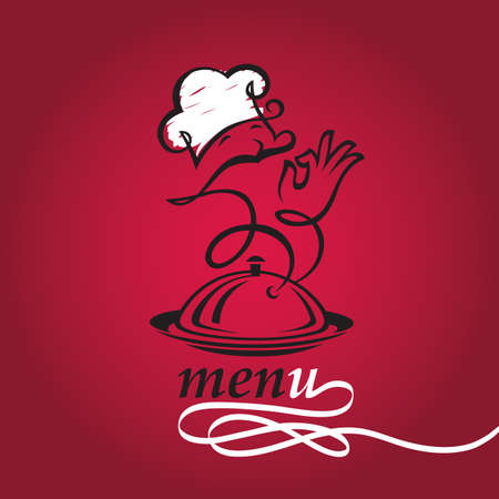 gorro chef: plato y cocinar