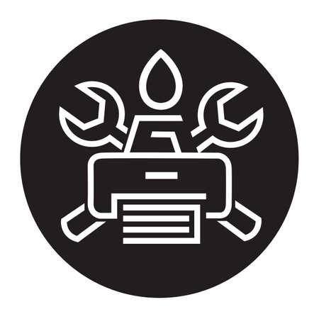 printer icon: monochrome icon printer service