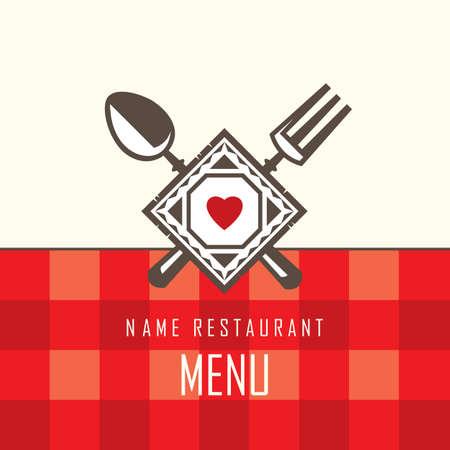 cuchara y tenedor: restaurante de dise�o de men� con cuchara y tenedor
