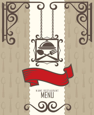 bistro: restaurant menu design Illustration