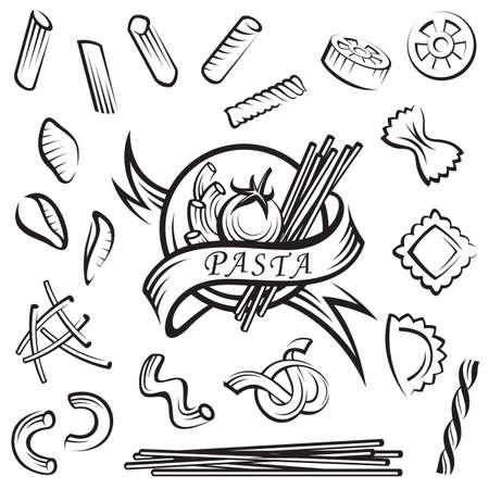 conjunto de elementos distintos de pasta