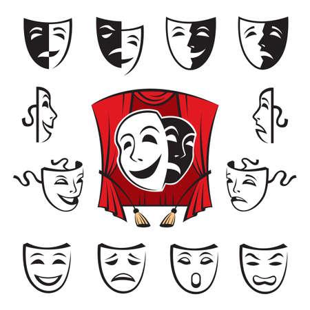 personalit�: set di maschere teatrali