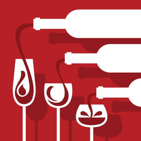 alcool: bouteilles et des verres fix�s