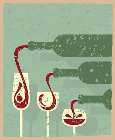 와인: 병 및 안경