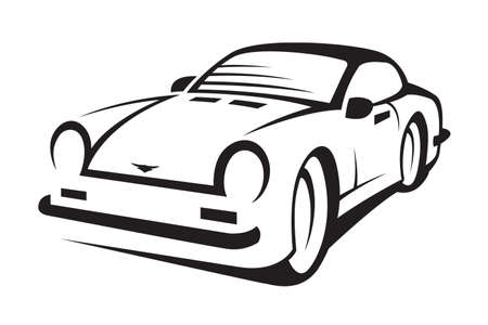 abstract monochrome illustration of a car Vector