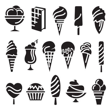 torta panna: set di sedici gelati