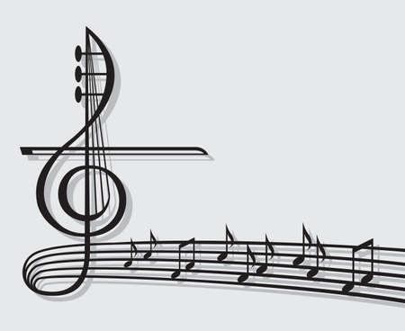violines: notas musicales