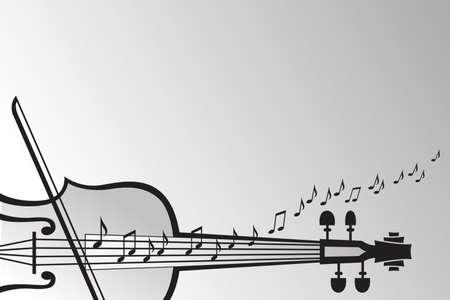 violins: violin and musical notes Illustration