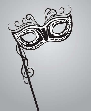 carnaval masker: carnaval masker Stock Illustratie