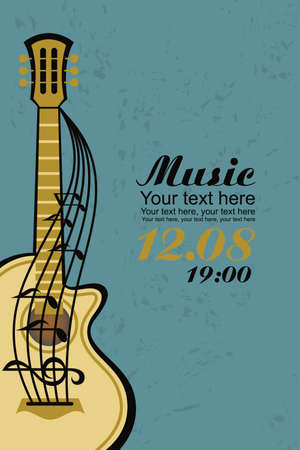 guitar: acoustic guitar Illustration
