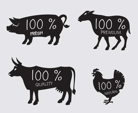 vaca: animales de granja
