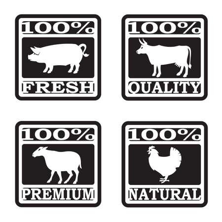 carve: conjunto de etiquetas carnicer�a