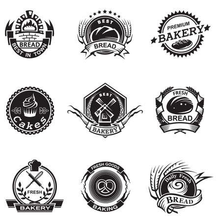 goods: Bakery labels set Illustration