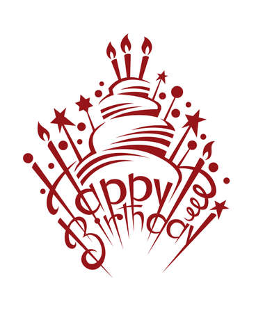 birthday cake Stock Vector - 23297720