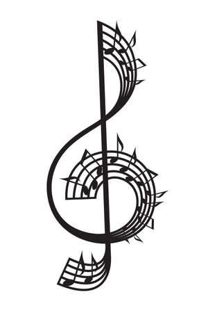 chiave di violino: chiave di violino e note