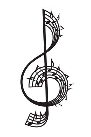 sheet music: treble clef and notes