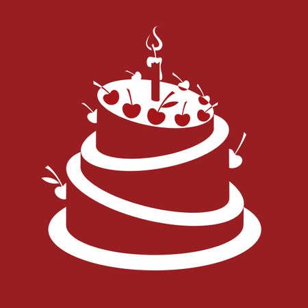 velitas de cumpleaños: pastel de cumpleaños Vectores