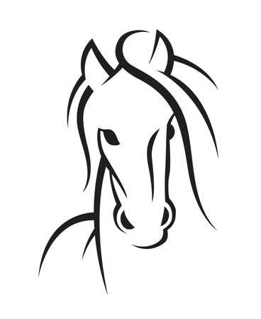 Bild von einem Pferd Standard-Bild - 26082049