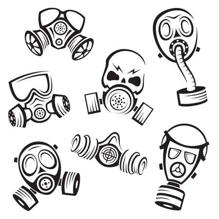 gas masks Stock Vector - 26082054