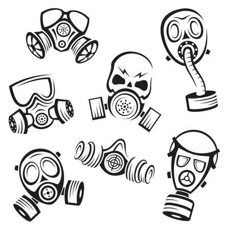 Máscaras de gas Foto de archivo - 26082054