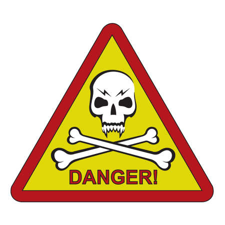 skull and crossbones: sign of the danger with skull and crossbones