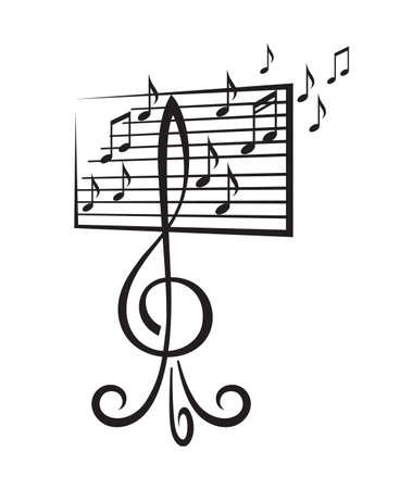 chiave di violino: leggio a forma di chiave di violino