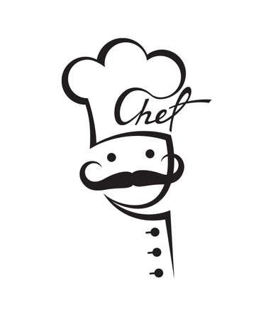 Chef con bigote Foto de archivo - 26602644