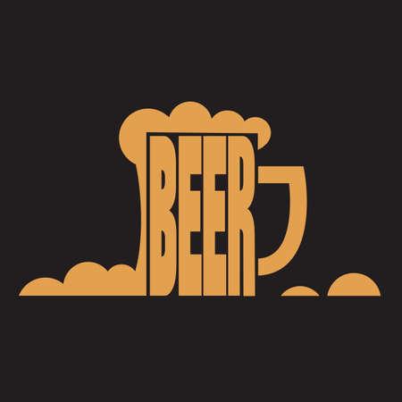 cerveza negra: jarro de cerveza Vectores