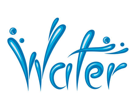 illustration of water as text Vector