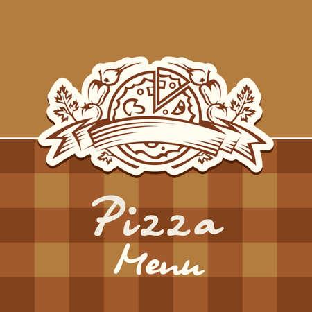 pizza design menu Vector