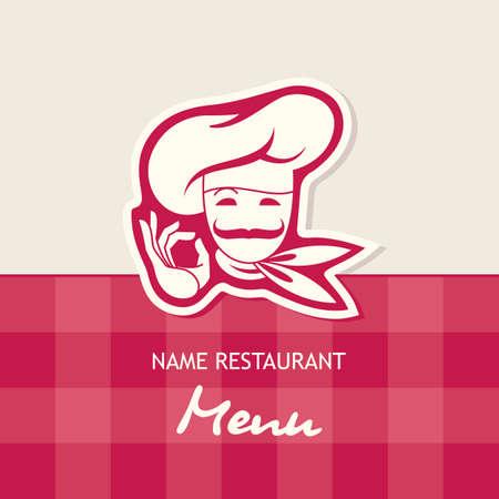 conception de menu chef Illustration