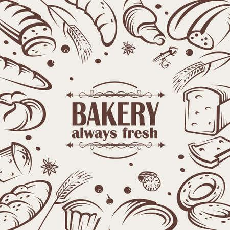 thresh: iconos vectoriales de diferentes tipos de pan