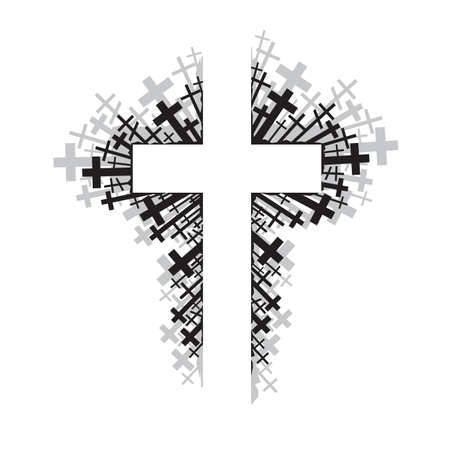 cross: abstract illustration of religious cross Illustration