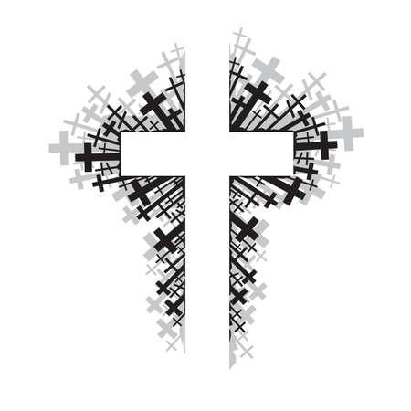 kruzifix: abstrakte Darstellung der religiösen Kreuz