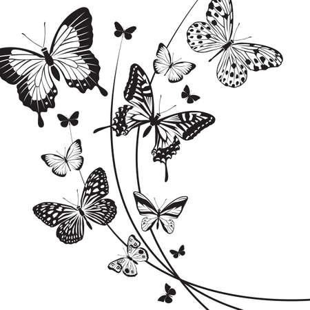 Conception de différents papillons rouges Banque d'images - 35134108