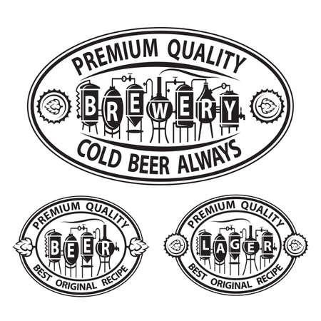 inn: monochrome set of beer icons