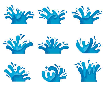 agua splash: imagen abstracta de consigna del agua