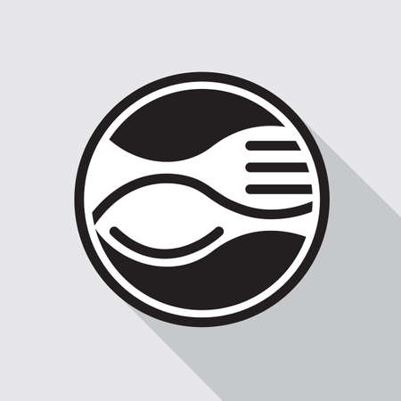 monochrome icon with fork and spoon Zdjęcie Seryjne - 38605417