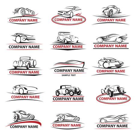 autolavaggio: set di quindici auto icone Vettoriali