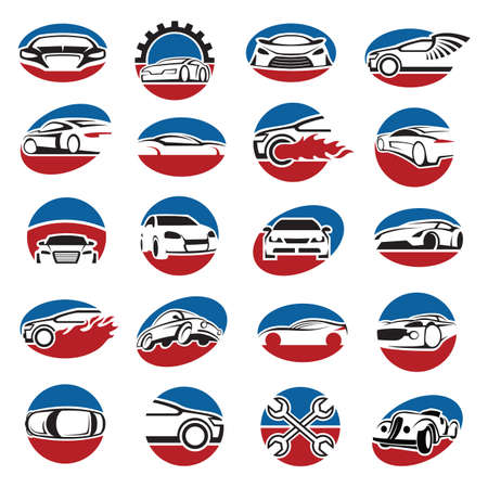 collection of twenty car icons