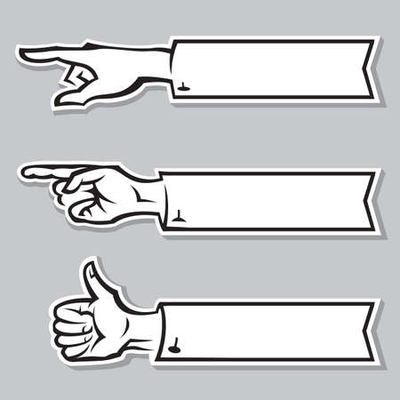 human finger: hands of the human with pointing finger Illustration