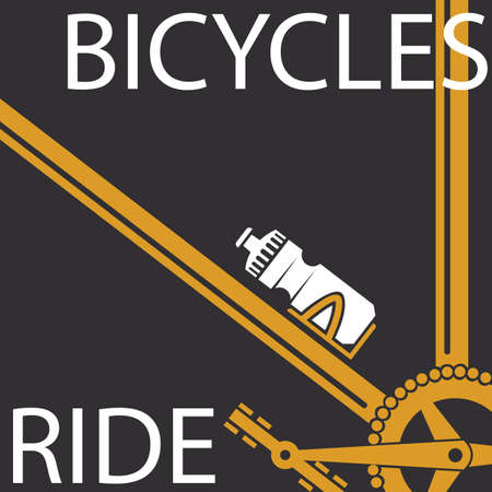 pure element: banner of sport bicycles ride