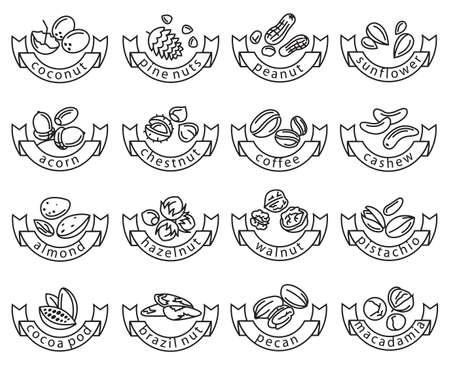 reeks van zestien monochrome noten pictogrammen Stock Illustratie